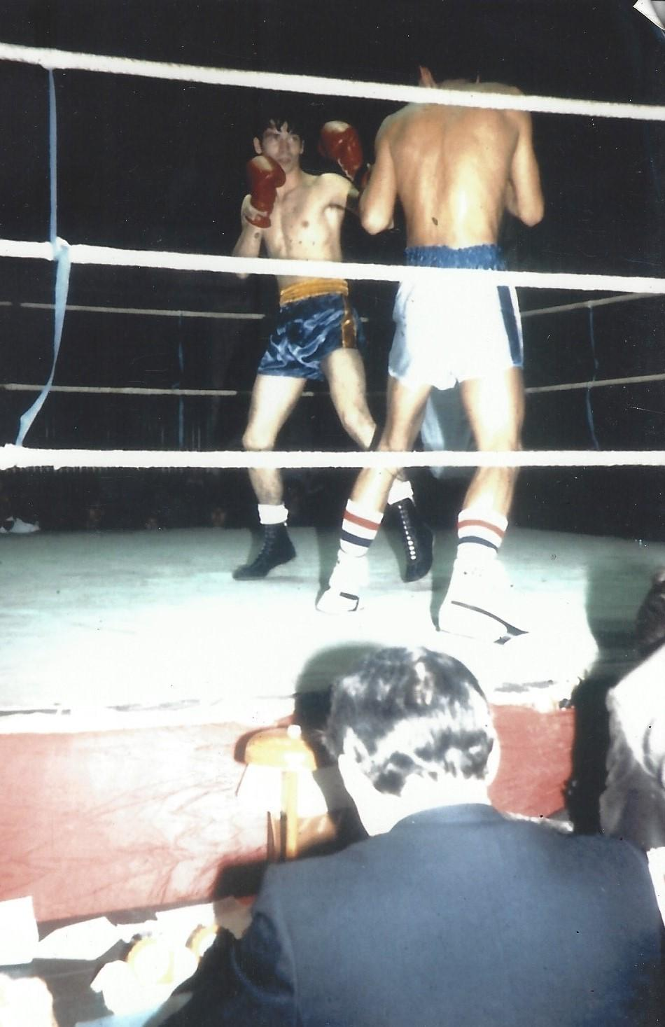 COMBAT BOXE ANGLAISE: Championnat d'Auvergne 1982 (Gagne KO 1 er round)