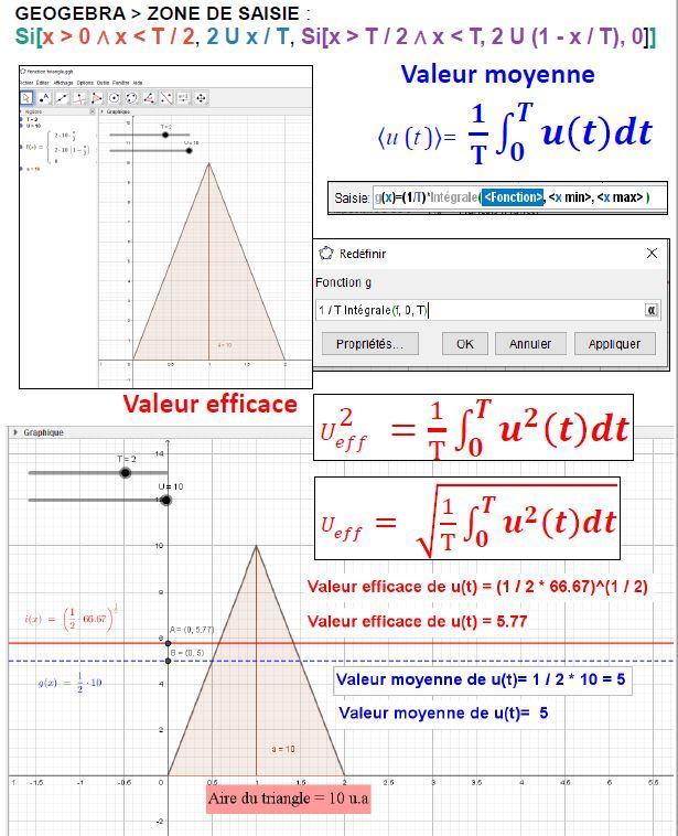 Calcul avec logiciel de géométrie dynamique