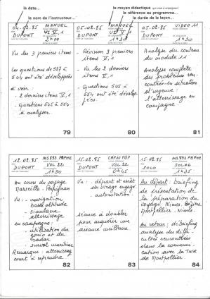 Capture livret de progression exemple page 1