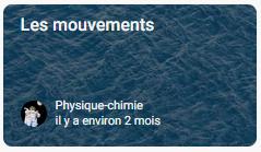 Mécanique : les mouvements