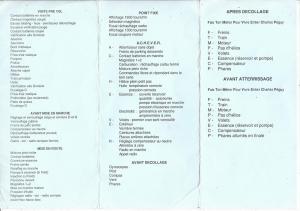 Check list verso