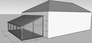 S48 geometrie construction terrasse piscine veranda