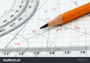 Stock photo geometry drawing detail 138235352